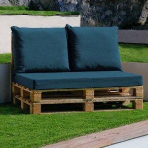 Set de 3 coussins déhoussables pour mobilier palette - Bleu canard