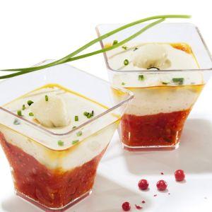 Verrines Tomates Marinées et Noix de St Jacques - 6 x 45 g